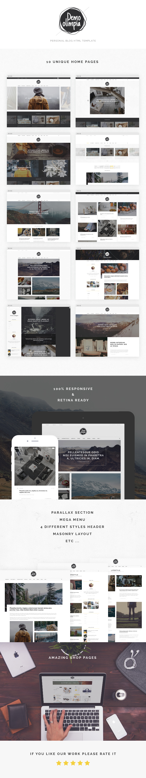 Demo Olimpia | Personal Blog HTML Template